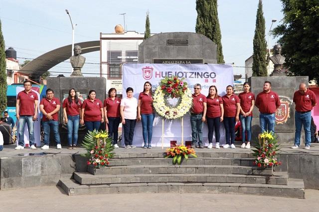 Conmemoran la Revolución Mexicana en Huejotzingo