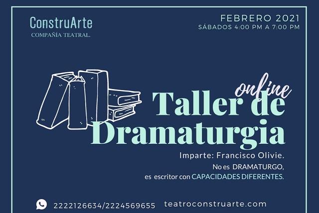Promueven talleres online de actuación y dramaturgia en Puebla