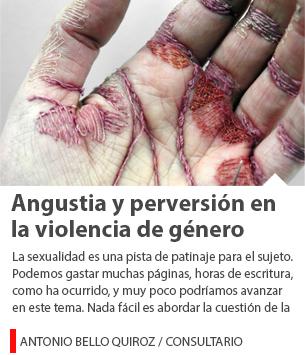 Angustia y perversión en la violencia de género