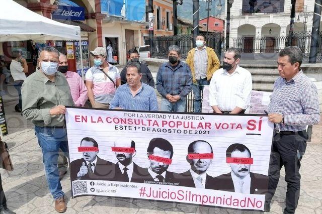 Promueven en Sierra Nororiental consulta contra expresidentes