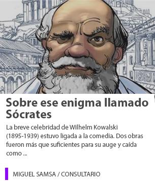 Sobre ese enigma llamado Sócrates