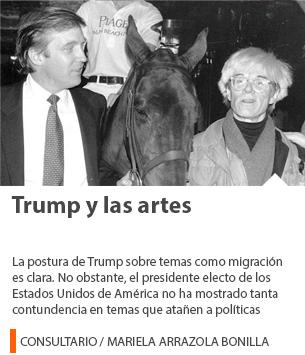 Trump y las artes