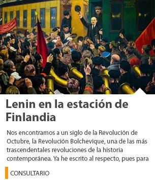 Lenin en la estación de Finlandia