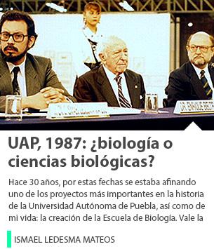 UAP, 1987: ¿biología o ciencias biológicas?