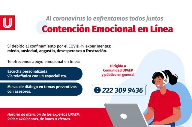 UPAEP abre el servicio de Contención Emocional en Línea