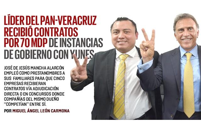 Líder del PAN-Veracruz recibió contratos por 70 mdp, de Yunes