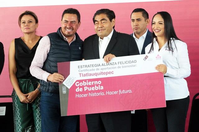 Tlatlauquitepec se suma a la Estrategia Alianza Felicidad
