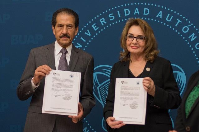 Firman convenio BUAP y Tribunal de Justicia Administrativa