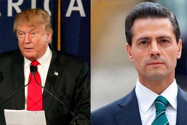 Conversan por teléfono durante una hora EPN y Donald Trump