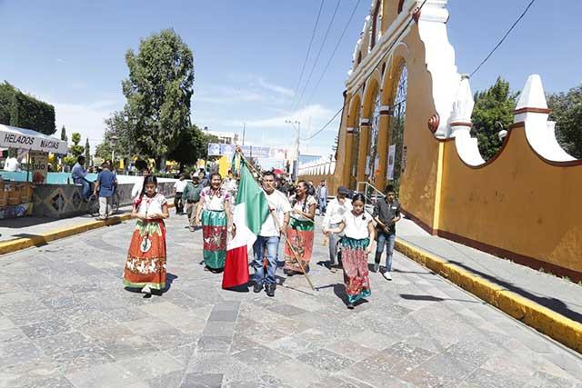 Realizan entrega de convite en San Andrés Cholula
