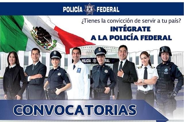Jornada de reclutamiento para la Policía Federal, este martes