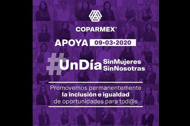 Se suma Coparmex al paro nacional de mujeres del 9 de marzo
