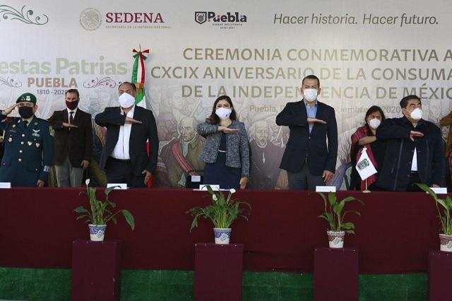 Conmemoran en Puebla capital consumación de la Independencia