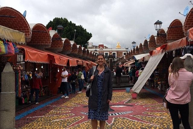 Embajadora de Reino Unido se encuentra de paseo por Puebla
