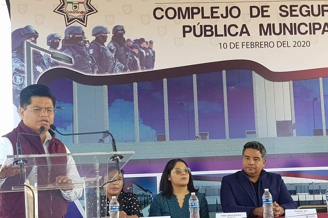 En Coronango inicia obra del Complejo de Seguridad