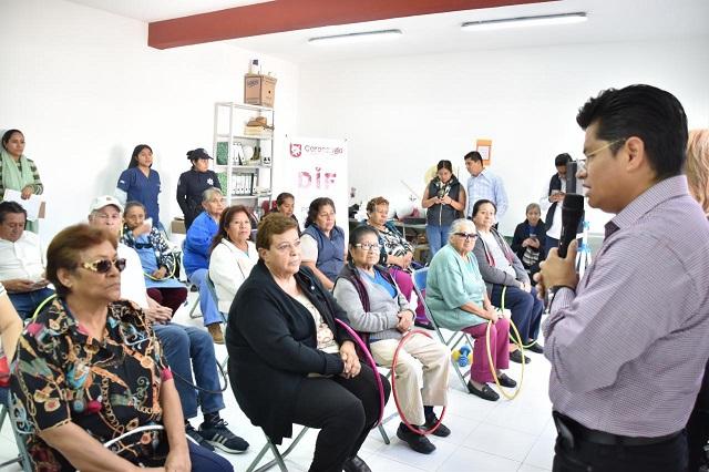 Inauguró edil de Coronango Grupo Gerontológico en Misiones de San Francisco