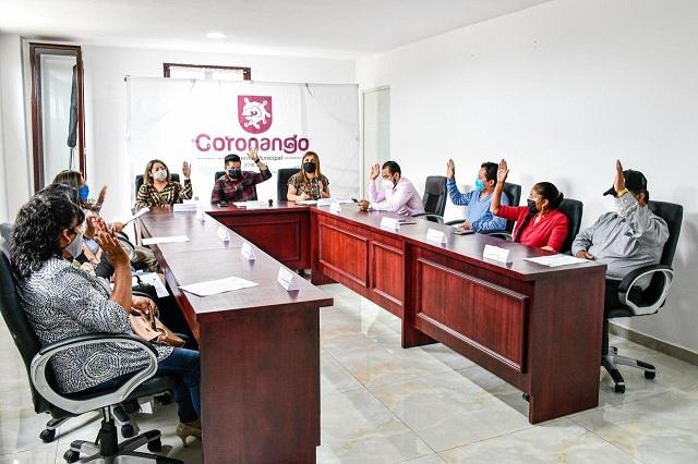Aprueba Cabildo de Coronango programas de apoyo al comercio