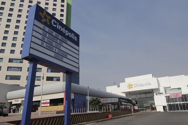 Acatarán cines semáforo naranja en Puebla y seguirán cerrados
