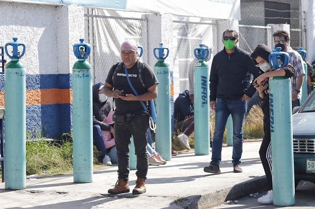 En dos meses precios del oxígeno se triplican en Puebla