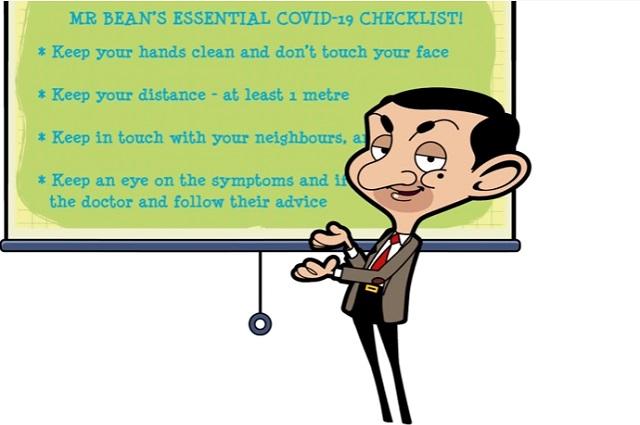 Mr Bean y la OMS hacen frente al Covid-19 con video