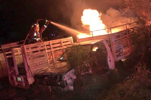 Por segunda vez en un mes se incendia corralón al sur de Puebla