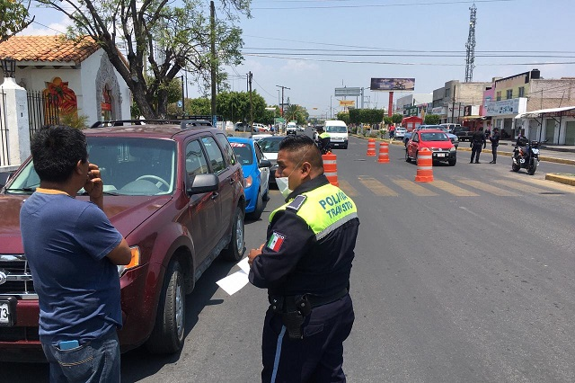 Disminuyen autos remitidos al corralón por Hoy no circula en Tehuacán