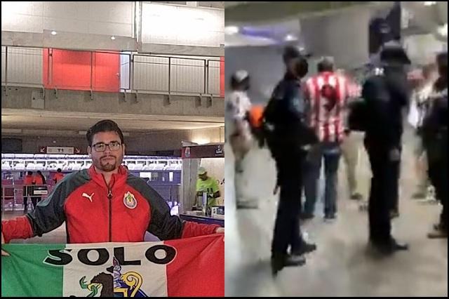 Liga MX: Vuelven a sacar a aficionado de estadio, ahora en Guadalajara
