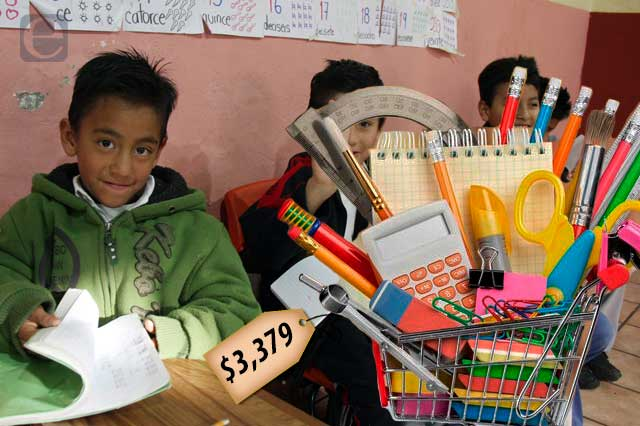 Regreso a clases en Puebla costará más de 3 mil pesos