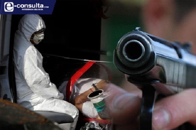Mata 5 veces más el Covid en Puebla que crimen