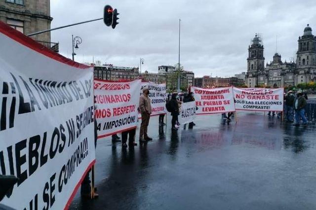 Llega a Palacio Nacional conflicto electoral de Coyomeapan