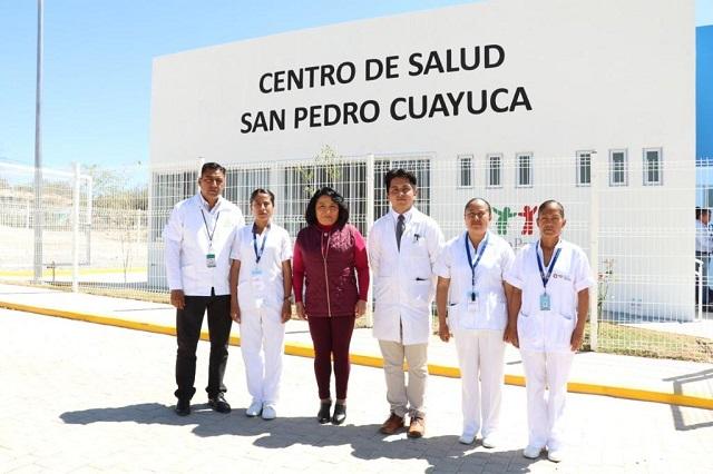 Reabren centro de salud en Cuayuca inhabilitado por el sismo del 2017