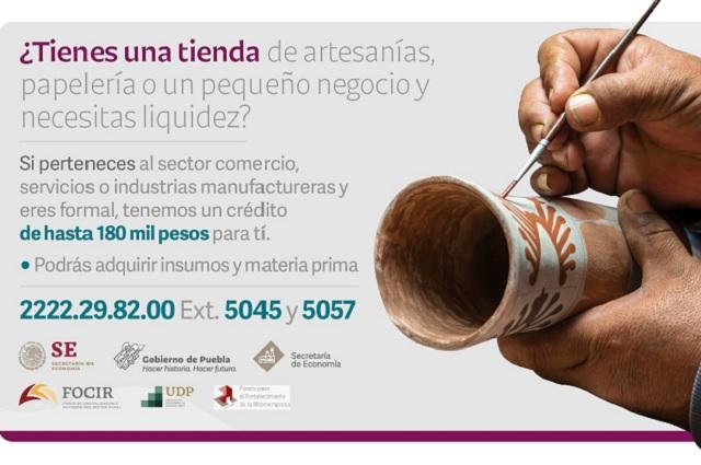 Créditos de 25 mil a 180 mil pesos ofrece Economía Puebla