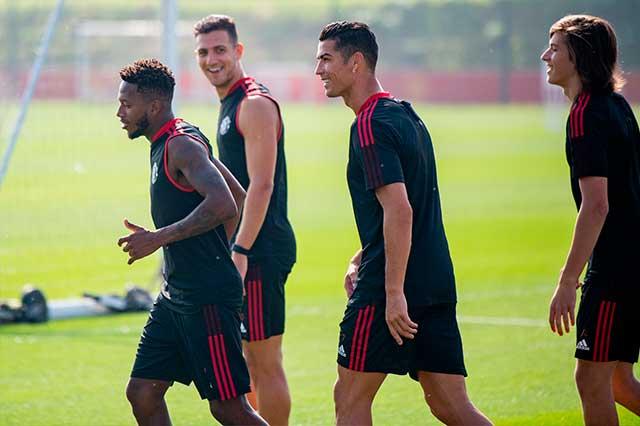 Cristiano: así fue su primer entrenamiento con el United
