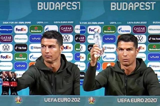 Cristiano Ronaldo provoca caída millonaria a Coca Cola por rechazar su refresco