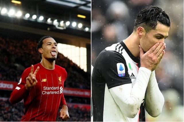 Virgil van Dijk troleó a Cristiano Ronaldo y resultó regañado