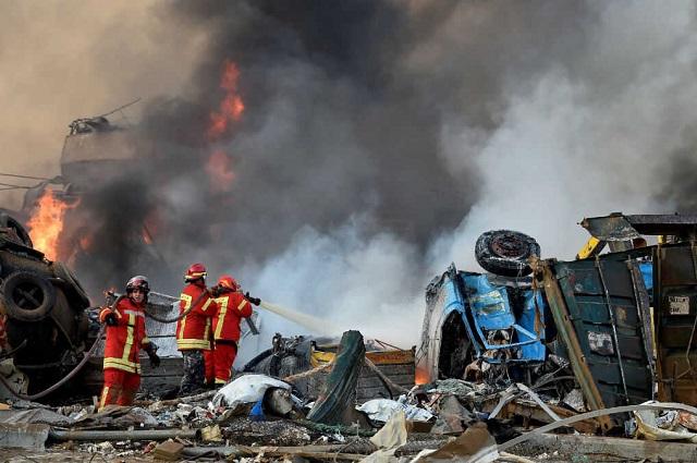 Explosión de amonio en Líbano deja 78 muertos y 4 mil heridos
