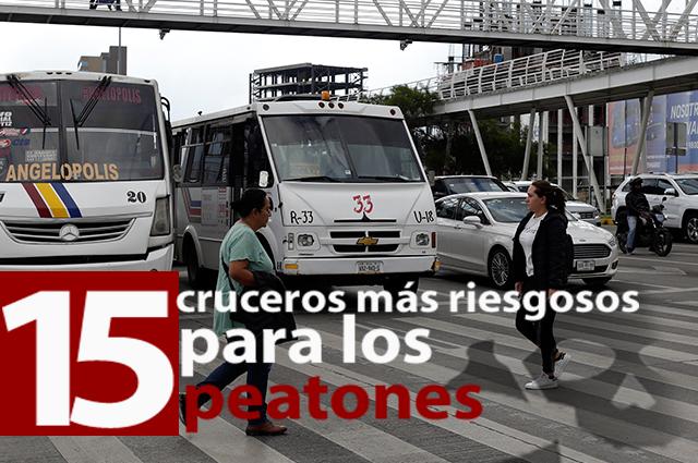 ¡Cuidado! Estos son los 15 cruceros más peligrosos en Puebla capital