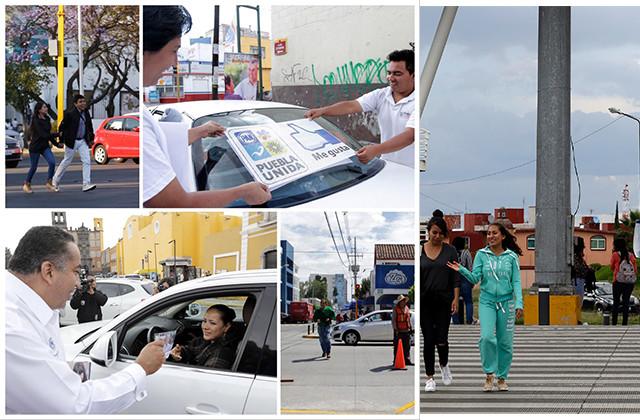 Principales cruceros de Puebla lucen libres de campañas