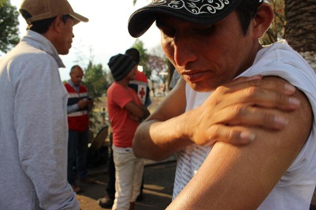 Cruz Roja Mexicana brinda asistencia médica y humanitaria a Viacrucis Migrante