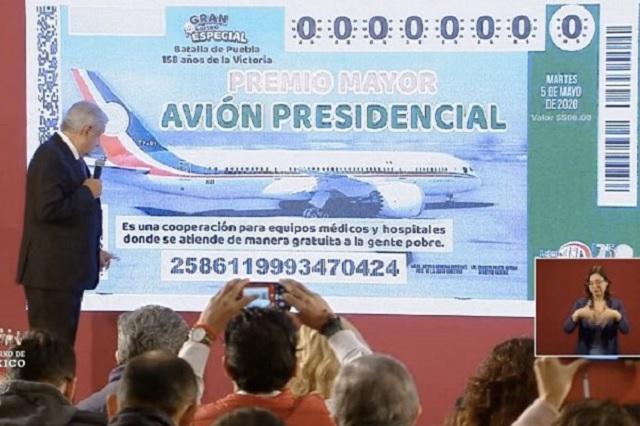¿Cuánto costará el boleto para la rifa del avión presidencial?