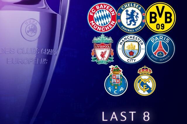 Definidos los equipos clasificados a 4tos de final en Champions League