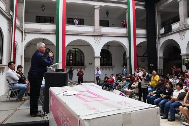"""Construirán 500 cuartos del programa """"Cuartos Rosas"""" en Tezuitlán"""