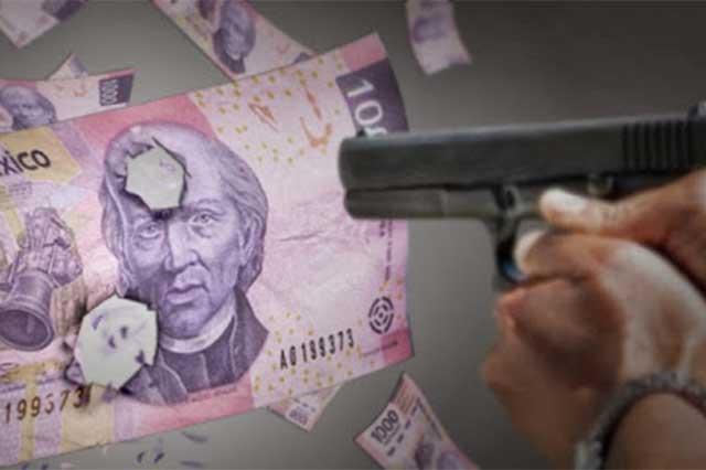 Sujetos armados roban 208 mil pesos en Nopalucan