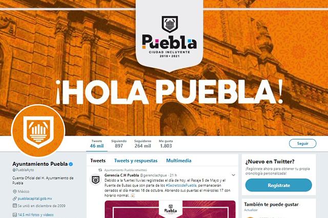 Las cuentas de Twitter que llegan con nuevo ayuntamiento de Puebla