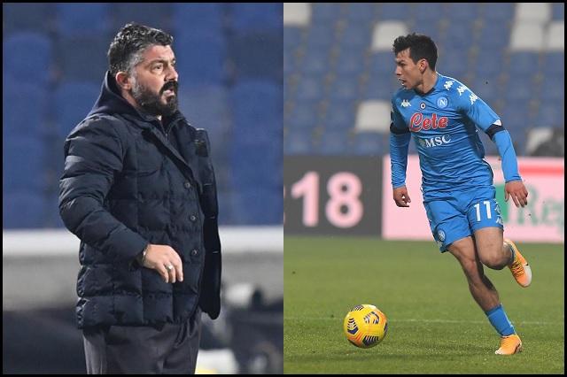 Aficionados culpan a Gattuso por lesión de Hirving Lozano