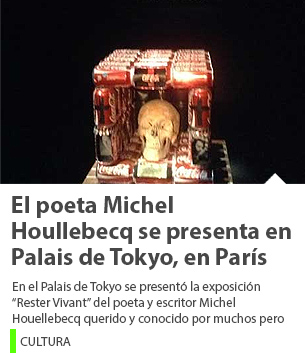 El poeta Michel Houllebecq se presenta en Palais de Tokyo, en París
