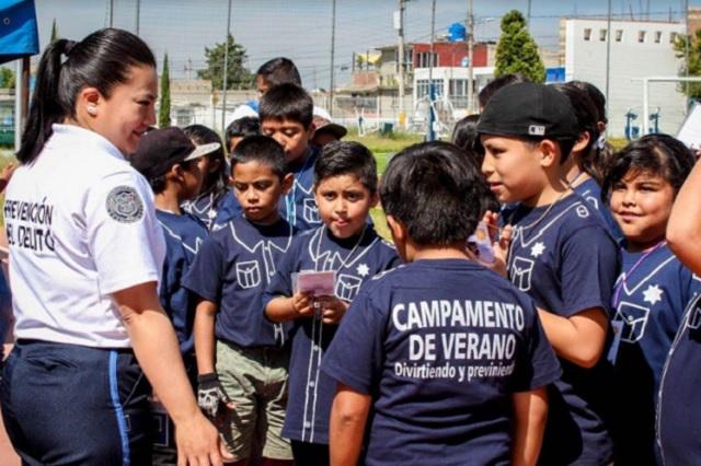 Niñas y niños de Puebla participan en Curso de Verano de SSPYTM