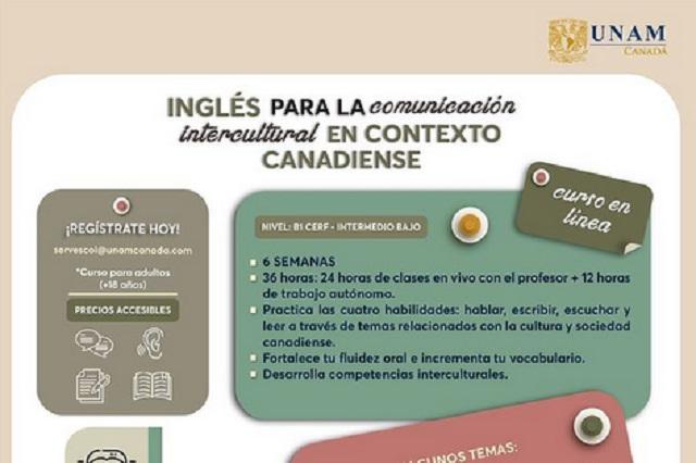 La UNAM da curso de inglés en línea basado en la cultura canadiense