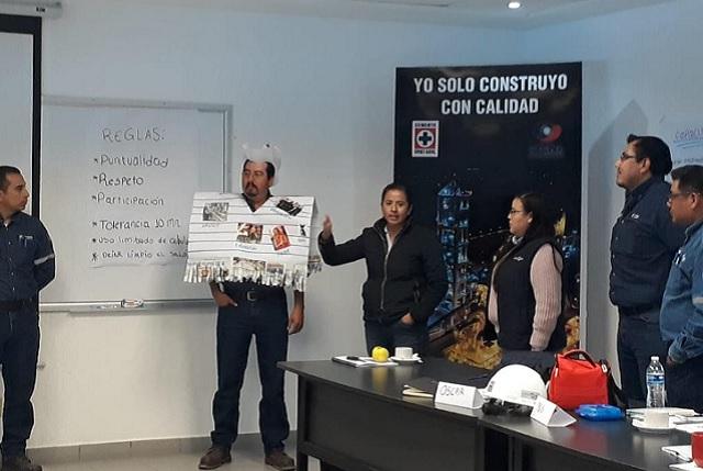 Capacita Cruz Azul a personal de planta CYCNA en Palmar de Bravo