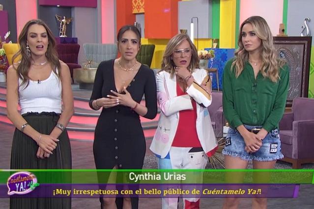 Cynthia Urías llama animales a televidentes y culpa al prompter